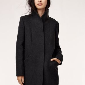 Aritzia Wilfred Cocoon Wool Coat (mid length)